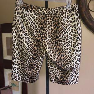 Boston Proper Shorts - Boston proper leopard print Bermuda shorts